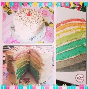 Rainbow cake KK