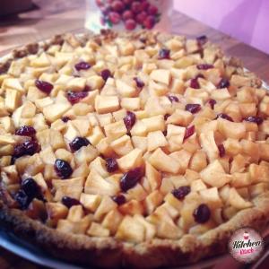 Tarte aux pommes et cranberries KK
